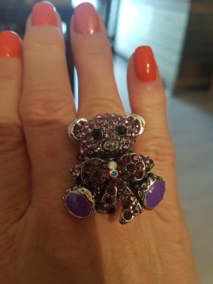 Teddybären Ring in violett