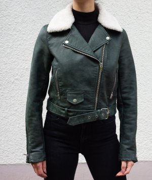 Only Biker Jacket dark green polyurethane