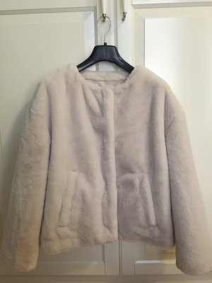 Teddyfell Fake Fur Kurzjacke in Creme