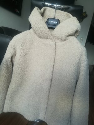 Zara Fake Fur Jacket beige