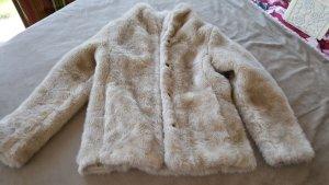 Teddyfell Jacke Winterjacke beige S 36 H&M
