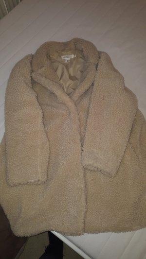 H&M Cappotto taglie forti bianco sporco