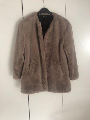 Zara Fake Fur Coat multicolored