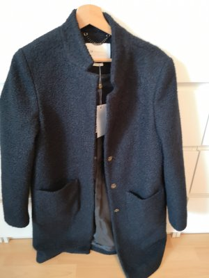 Rich & Royal Manteau en laine noir-gris anthracite
