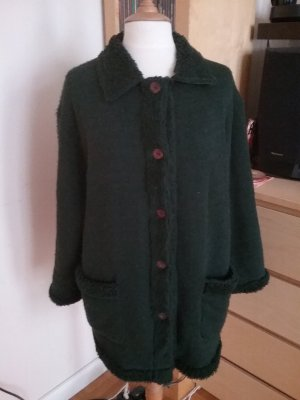 Teddyjacke Vintage in dunkelgrün