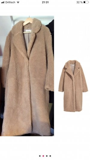 H&M Cappotto in eco pelliccia beige Pelliccia ecologica