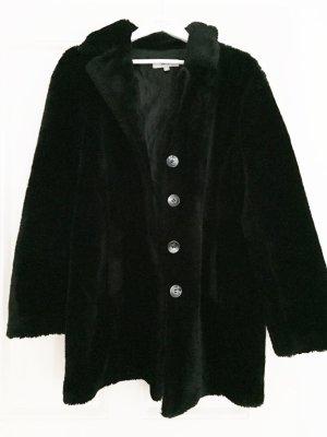 Teddymantel Teddy Coat Kunstfell-Mantel Koton Vintage schwarz - M