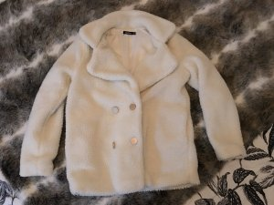 Boohoo Short Coat natural white-gold-colored
