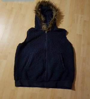 Fleece vest donkerblauw