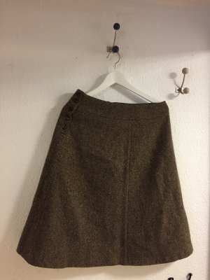 Weekend Max Mara Jupe en tweed brun