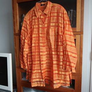 teiltransparente Karo-Bluse