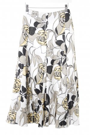 Circle Skirt flower pattern casual look