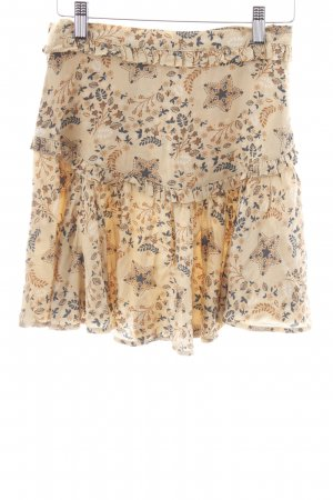 Circle Skirt camel floral pattern Boho look