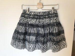 H&M Circle Skirt black-white