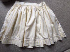 Falda circular blanco-amarillo claro