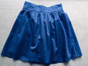H&M Jupe corolle bleu-bleu fluo