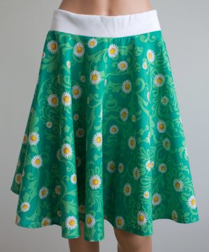 Falda circular verde