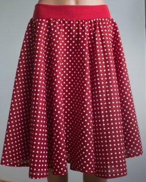 Falda circular rojo