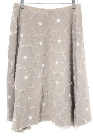 Falda circular taupe-blanco estilo extravagante