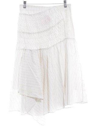 Cirkelrok wit krijtstreep romantische stijl