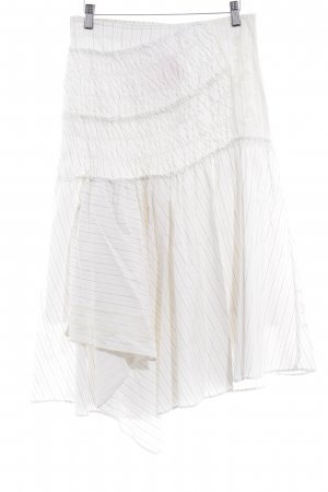 Circle Skirt white pinstripe romantic style