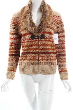 Tellinside clothing Wolljacke abstraktes Muster Country-Look