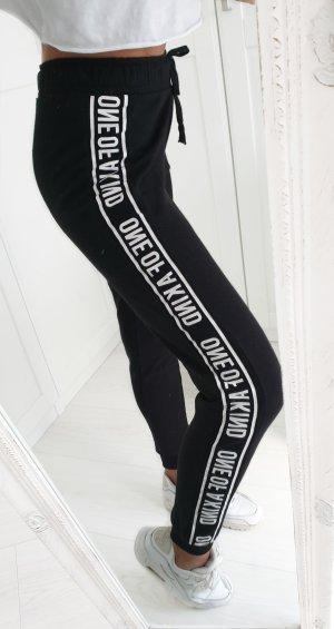 Pantalón de cintura alta blanco-negro