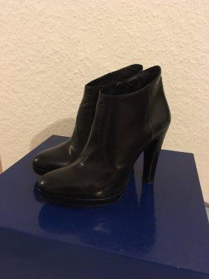 TEMA Stiefeletten Leder schwarz Gr. 36