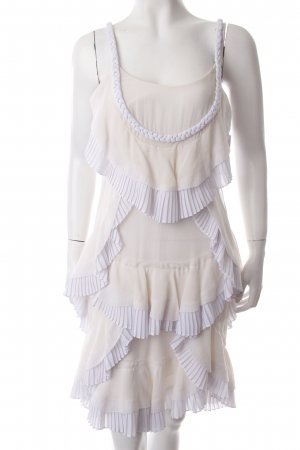 Temperley london Volantkleid creme-weiß Romantik-Look
