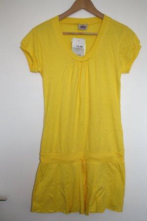 Tenniskleid Kleid Gelb Gr.38/40 TAKKO U-Auschnitt Kurzarm