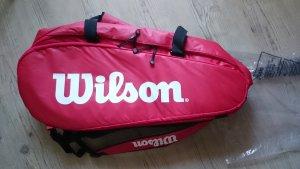 Tennistasche Wilson Schlägertasche - Rot, Weiß UVP 100 €