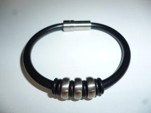 Bracelet noir-argenté bronze