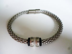 Bracelet silver-colored stainless steel