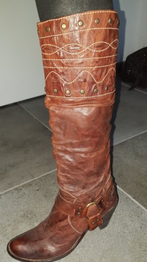 Tentazione due Western Boots cognac-coloured-gold-colored