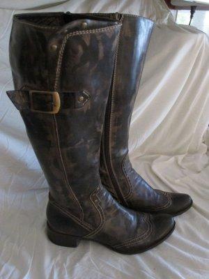 Tentazione due Wide Calf Boots multicolored leather