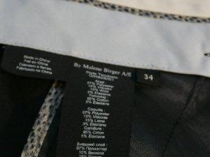 by Malene Birger Pantalón de cintura alta gris antracita tejido mezclado