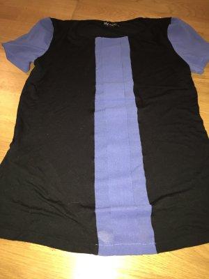 Camisa recortada verde oscuro-azul acero
