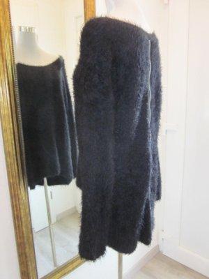 Terenzi Chenille Long Pullover schwarz Gr L/XL