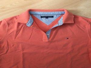 Terrakotta farbenes Polo Shirt von Tommy Hilfiger in Größe L