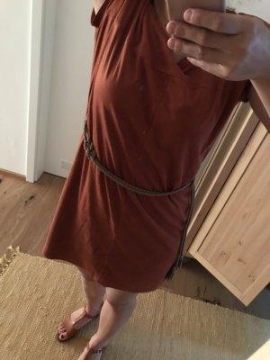 Terrakotta rotes Kleid von EDC 38 mit Gürtel