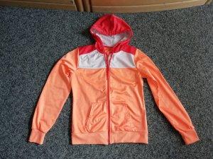 Terranova Kaputzensweatjacke orange/rot/weiß L