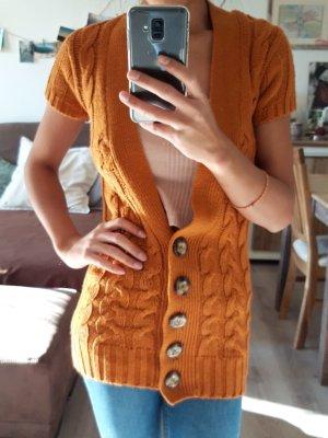 Terranova Weste Orange / Ocker mit Knopfverschluss Größe XS