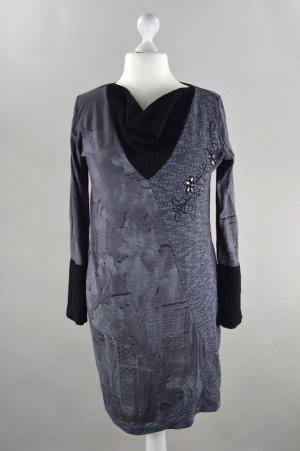 Tesini Kleid langarm schwarz Größe 44
