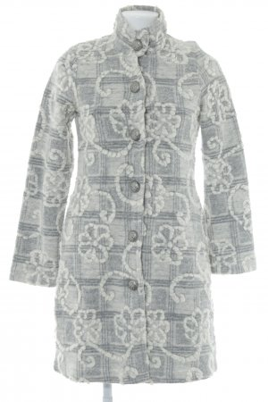 Tesini Linea Wollmantel grau-creme Mustermix extravaganter Stil