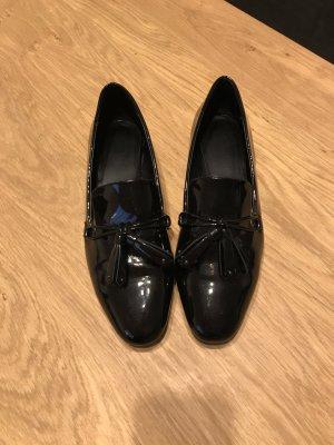 Mango Chaussures basses bleu foncé synthétique