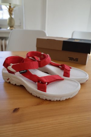 Teva Outdoor sandalen wit-baksteenrood