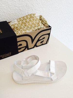 Teva Sandale d'extérieur blanc cuir