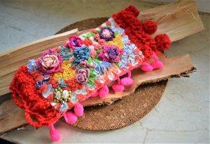 Textil 3D Armband Bestickt ,Folklore,Ethno Style,Bohemian Schmuck
