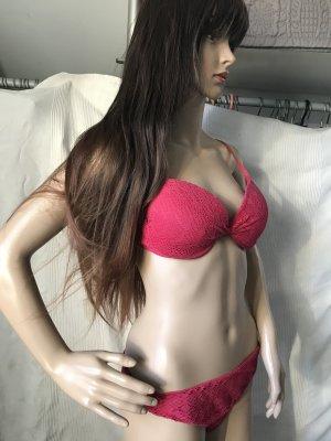 Tezenis Bikini, pink, Oberteil 80D, Höschen Gr M