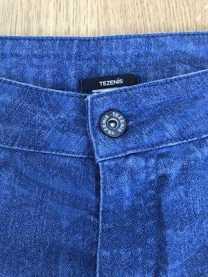 Tezenis Stretch-Jeans/Jeggins blau Gr. S tolles Muster